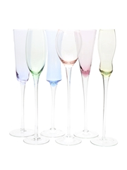 Six Champagne Glasses
