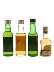 Fraser's, Catto's, House of Stuart & Mansion House Bottled 1970s-1980s 4 x 4cl-5cl