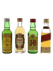 Cutty Sark, J & B, Johnnie Walker & Grant's