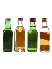 Cutty Sark, J & B, Johnnie Walker & Grant's Bottled 1970s-1980s 4 x 4.7cl-5cl / 40%