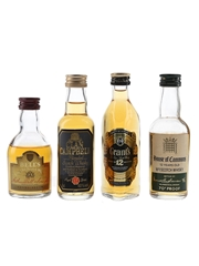 Bell's Connoisseur, Clan Campbell, Grant's & House of Commons Bottled 1970s-1980s 4 x 5cl / 40%