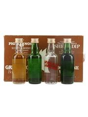 Farmyard Collection Moonshine Vodka, Greencock Bristol Dry Gin, Pig's Nose & Sheep Dip 4 x 5cl