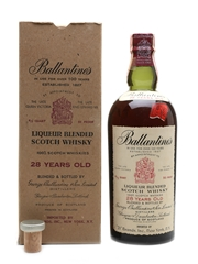 Ballantine's 28 Year Old Bottled 1950s - 21 Brands 75.7cl / 43%