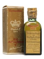 Dewar's Coronation Bottled 1953 Miniature