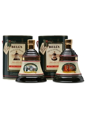 2 x Bell's Christmas Decanters 70cl