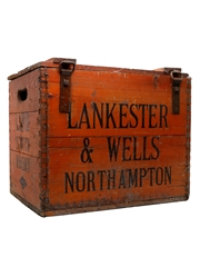 Laird Scotch Whisky Wooden Box Lankester & Wells Northampton 45cm x 38cm x 33cm
