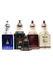 5 x Bell's decanters 70cl & 75cl