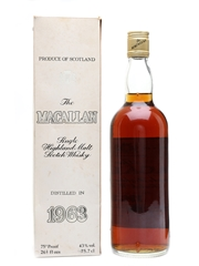 Macallan 1963 Bottled 1980s 75.7cl / 43%
