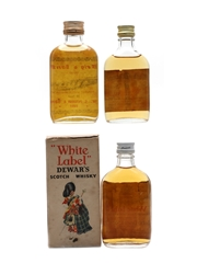 Blended Scotch Whisky Miniatures Bottled 1960s 3 x 5cl / 40%