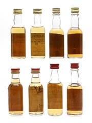 Single Malt Scotch Whisky Miniatures Glenmorangie, Dufftown, Bladnoch, Inchgower 8 x 5cl / 40%