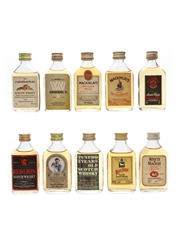 Assorted Scotch Whisky Miniatures White Horse, Mackinlay's, McGibbon's, Whyte & Mackay 10 x 5cl / 40%