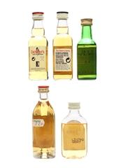 Scotch Whisky Miniatures Glenlivet, Dewar's, Famous Grouse 5 x 5cl