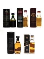 Assorted Whisky Miniatures Bunnahabhain, Highland Park, Glenmorangie 5 x 5cl / 40%