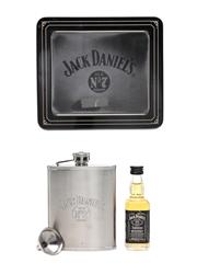 Jack Daniel's Miniature & Hipflask Set