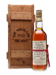 Macallan 1940 Handwritten Label Bottled 1981 - Philips & Pike, New Zealand 75cl / 43%