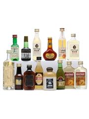 14 x Assorted Brandy Miniatures