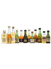 12 x Assorted Cognac Miniatures