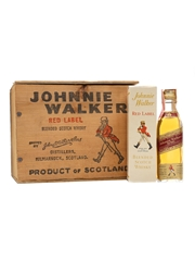 Johnnie Walker Red Label Bottled 1970s - Somerset Importers, New York 8 x 5cl / 43.4%