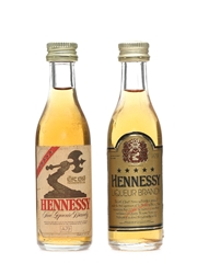 Hennessy Five Star Bottled 1970s-1980s 2 x 5cl