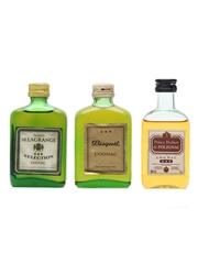 3 x Assorted Cognac Miniatures