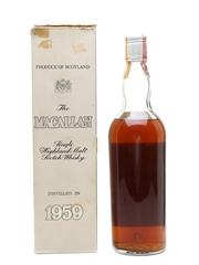 Macallan 1959 Campbell, Hope & King Bottled 1970s - Rinaldi 75cl / 46%