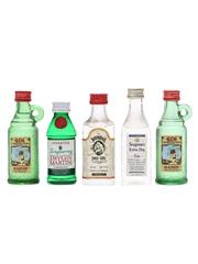 5 x Assorted Gin Miniatures