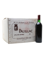 Pauillac 1973 Chateau Latour 12 x 75cl