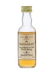 Macallan 16 Years Old Miniature
