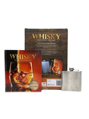 Whisky Expert Set Book & Hip Flask