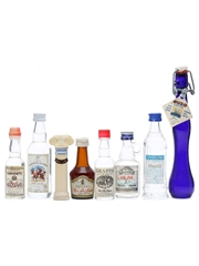 8 Assorted Ouzo & Grappa Miniatures