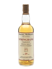 Springbank 1972 25 Year Old