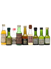 9 x Assorted Spirits Miniatures