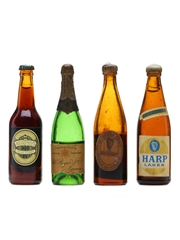 4 x Assorted Beer & Champagne Miniatures