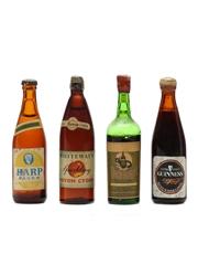 4 x Assorted Beer & Wine Miniatures