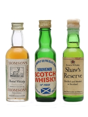 3 x Blended Scotch Whisky Miniatures
