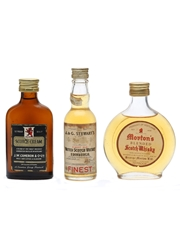 3 x Assorted Whisky Miniatures