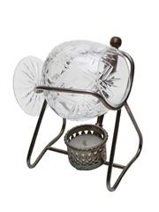 Silver Plated Brandy Warmer & Glass