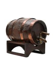 Barrel Dispenser Wood & Copper 16cm x 21cm