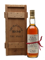 Macallan 1950 Handwritten Label Bottled 1980s 75cl / 43%