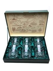 Crystal Glass Set Glenfiddich 35cm x 25cm x 9.5cm