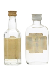 Booth's Gin & Wolfschmidt Vodka Bottled 1960s & 1970s 2 x 5cl