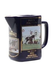 Martell Grand National Water Jug 1992 Party Politics 15cm x 17cm x 8cm