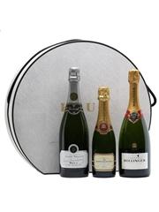 3 x Assorted Champagne & Krug Hat Box
