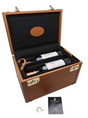 Chateau Pichon Baron Longueville 2001, 2002, 2003 & 2004 Alexandre Mareuil Mini Vertical Leather Case 4 x 75cl