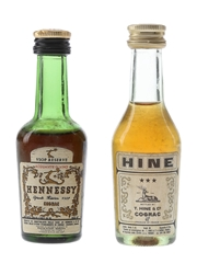 Hennessy VSOP Reserve & Hine 3 Star Bottled 1960s-1970s 2 x 3cl / 40%
