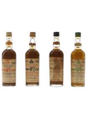Pimm's No. 1,2,3 & 4 Bottled 1960s 4 x 1cl