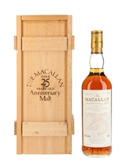 Macallan 1965 25 Year Old Anniversary Malt Bottled 1991 75cl / 43%