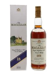 Macallan 1978 18 Year Old Bottled 1996 - Duty Free 75cl / 43%