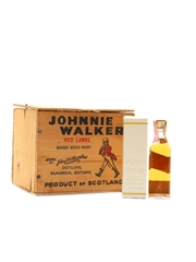 Johnnie Walker Red Label Bottled 1970s - Somerset Importers, New York 11 x 5cl / 43.4%