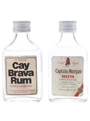 Captain Morgan & Cay Brava Light Rum Jamaica & Mexico 2 x 5cl